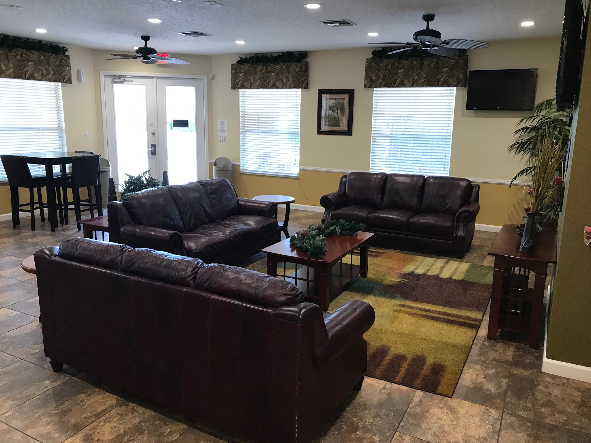 inside the Lake Berkley Clubhouse club house